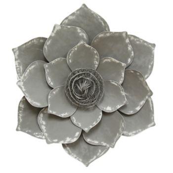 Stratton Home Decor Metal Lotus Flower Wall Decor