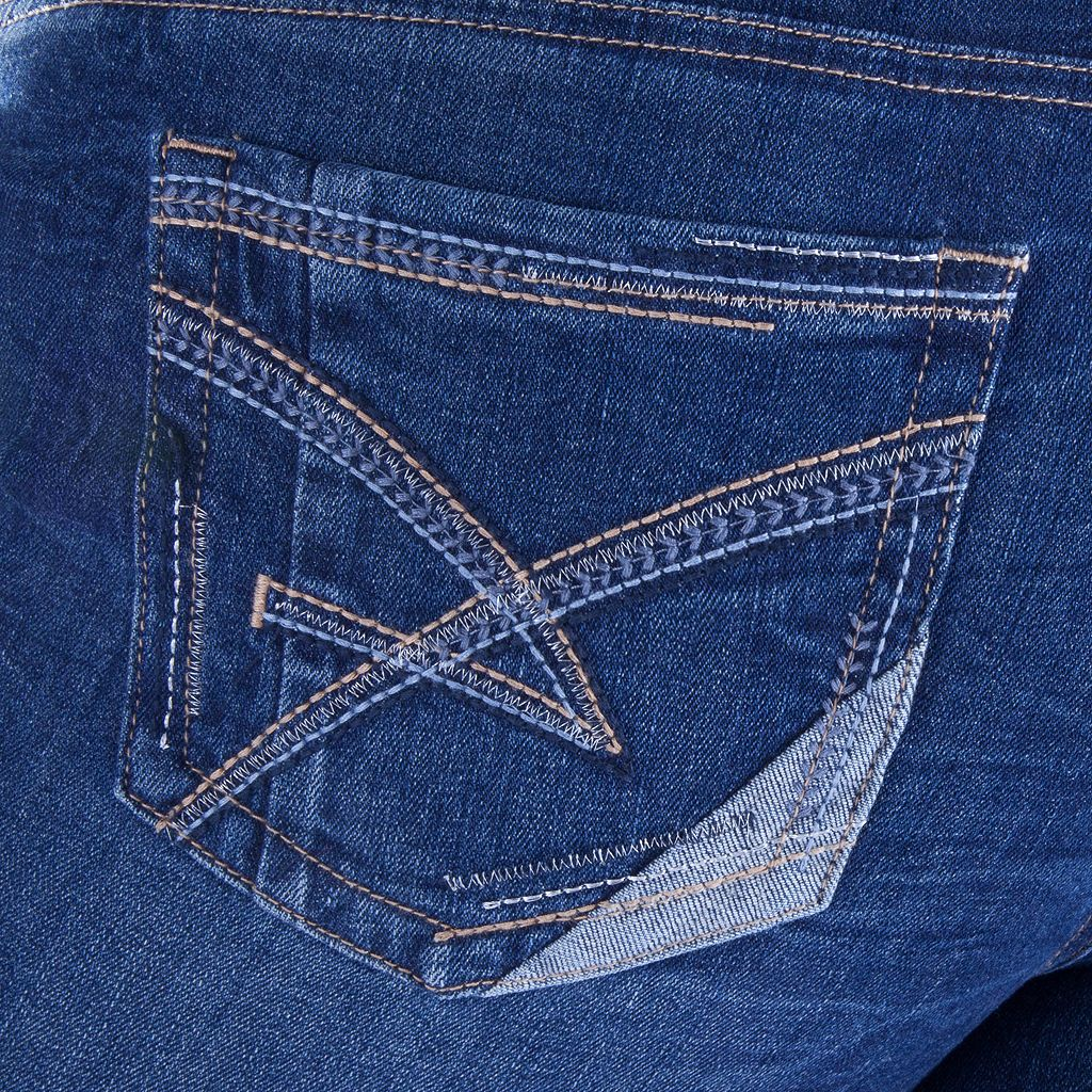 Juniors' Amethyst Distressed Ankle Skinny Jeans