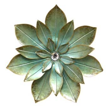 Stratton Home Decor Embellished Flower Wall Decor