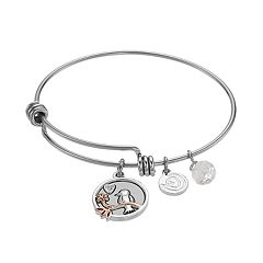 love this life Crystal 'Daughter' Bird Charm Bangle Bracelet