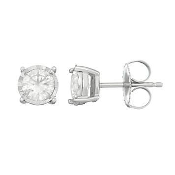 10K White Gold 1 ct. T.W. Diamond Stud Earrings