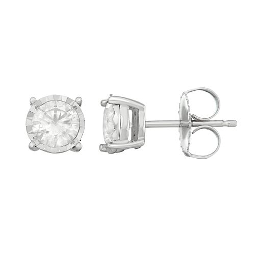 10K White Gold 1 ct. T.W. Diamond Stud Earrings