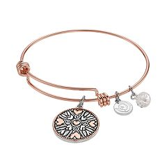 love this life 'Mothers and Daughters' Heart Charm Bangle Bracelet