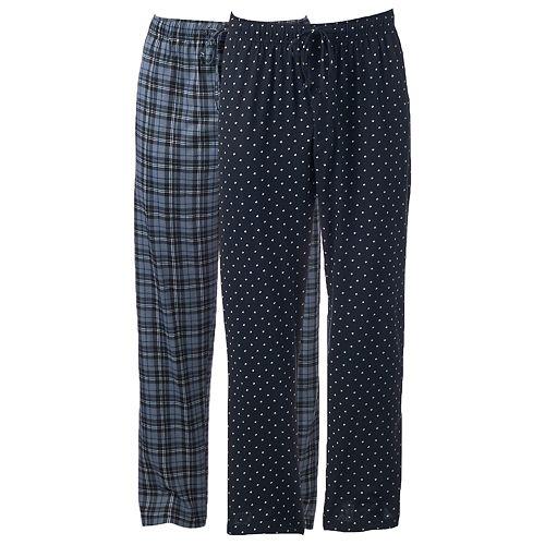 Big & Tall Hanes 2-pack Ultimate X-Temp Plaid Lounge Pants