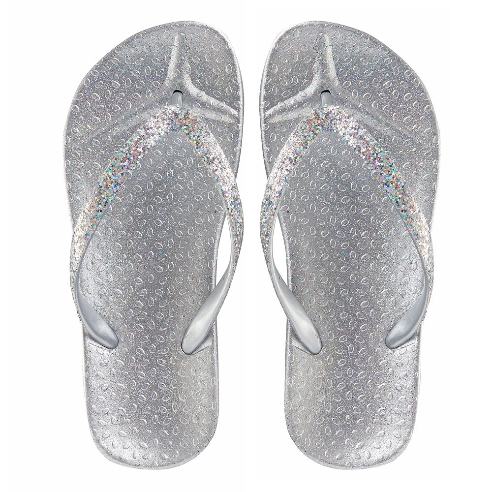6de2c78b7237 Girls 4-16 Elli by Capelli Glitter Jelly Flip Flops