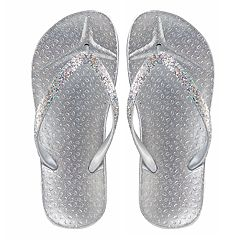 Girls 4-16 Elli by Capelli Glitter Jelly Flip Flops