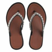 Girls 4-16 Elli by Capelli Gem & Rhinestone Wedge Flip Flops