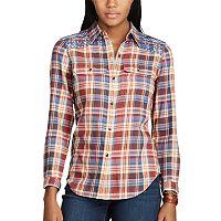 Women's Chaps Plaid Button-Down Work Shirt