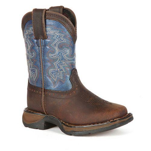 Lil Durango Boys' Full Grain Saddle Western Boots