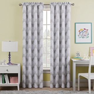 Kids Waverly Blackout 1-Panel Airwaves Window Curtain