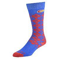Men's Mojo Kansas Jayhawks Argyle Socks