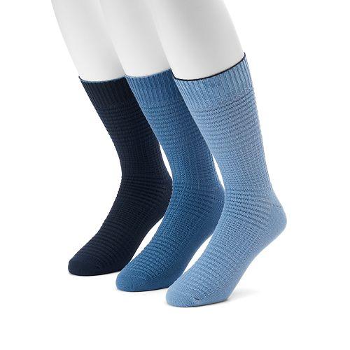 Men's Levi's® 3-pack Waffle-Weave Crew Socks