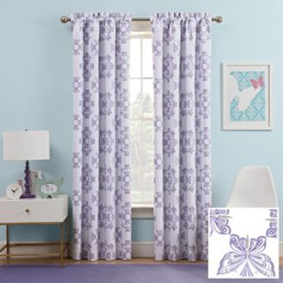 Kids Waverly Blackout 1-Panel Ipanema Window Curtain