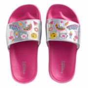 Girls 4-16 Elli by Capelli Sticker Print Holographic Slides