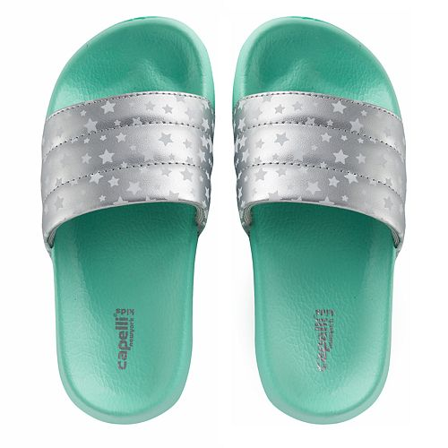 "Girls 4-16 Elli by Capelli ""Star"" Print Slides"