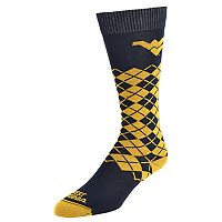 Men's Mojo West Virginia Mountaineers Argyle Socks