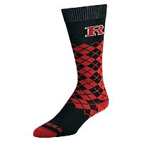 Men's Mojo Rutgers Scarlet Knights Argyle Socks