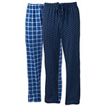 Big & Tall Hanes 2-pack Ultimate X-Temp Plaid Sleep Pants