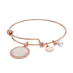 love this life 'Mom' Disc Charm Bangle Bracelet