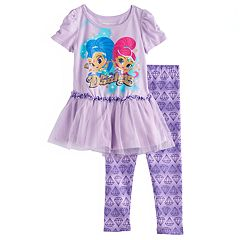 Toddler Girl Shimmer & Shine 'Be Dazzling' Tutu Top & Leggings Set