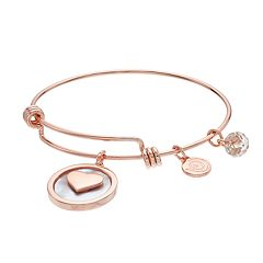 love this life 'Grandma' Disc Charm Bangle Bracelet