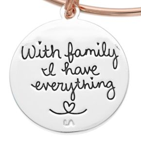 "love this life Two Tone ""Family"" Tree Charm Bangle Bracelet"