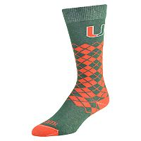 Women's Mojo Miami Hurricanes Argyle Socks