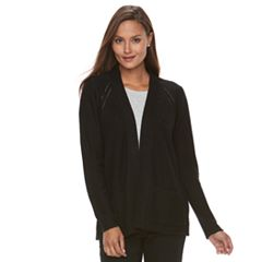 Women's Croft & Barrow® Textured Cardigan Sweater