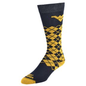 Women's Mojo West Virginia Mountaineers Argyle Socks