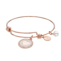love this life 'Make My Heart Smile' Charm Bangle Bracelet