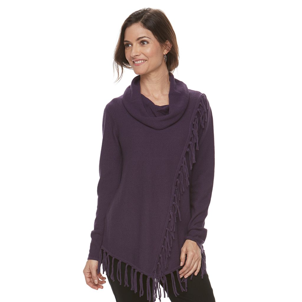 Women's Croft & Barrow® Poncho Sweater