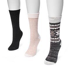 Women's MUK LUKS 3 pkCrew Socks