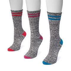 Women's MUK LUKS 3-pk. Crew Socks
