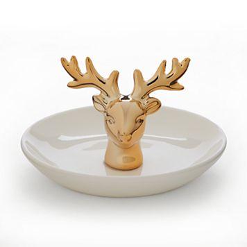 LC Lauren Conrad Deer Ring Holder Trinket Tray