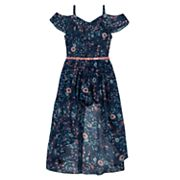 Girls 7-16 IZ Amy Byer Off Shoulder Walk-Through Belted Maxi Dress