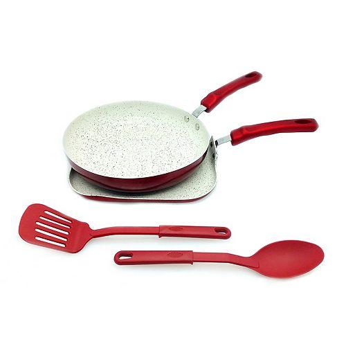 IMUSA 4-pc. Ceramic Nonstick Griddle & Pan Set