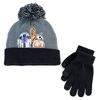 Boys 4-20 Star Wars Droids Hat & Gloves Set