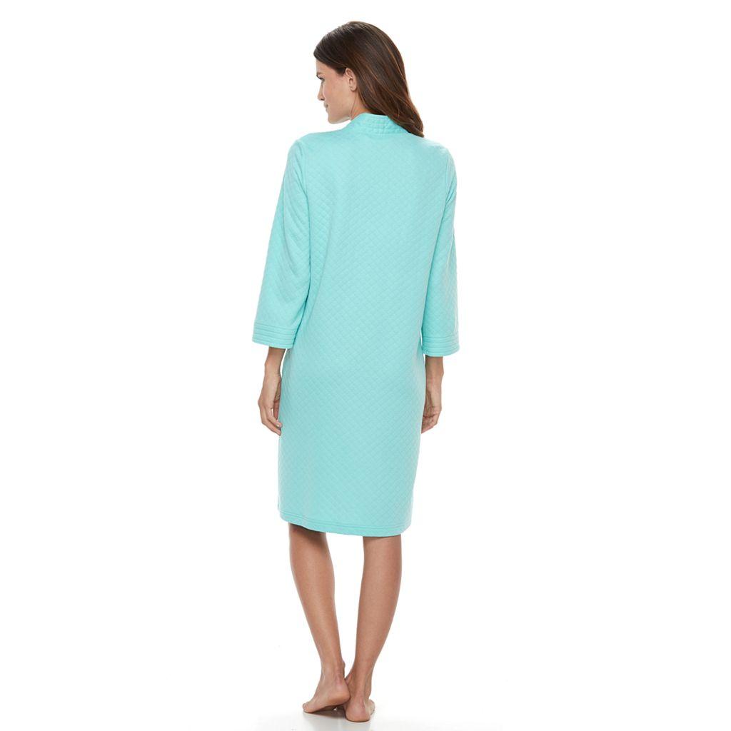 Women's Croft & Barrow® Quilted Zip-Up Duster Robe