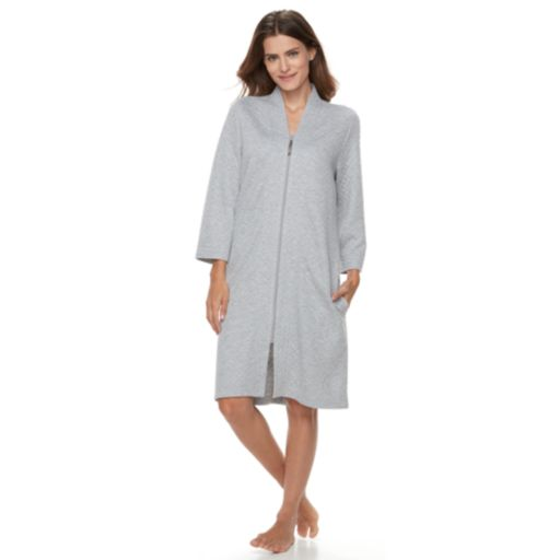 Women's Croft & Barrow® Quilted Zip-Up Duster Robe