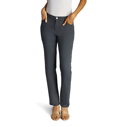 Petite Lee Instantly Slims High Waisted Straight-Leg Jeans