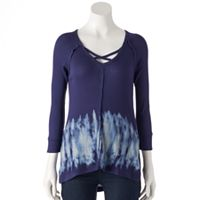 Women's French Laundry Strappy Tie-Dye Tunic
