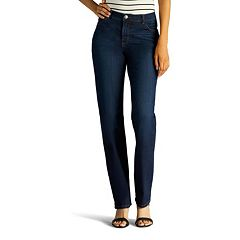 Petite Lee Classic Fit Straight-Leg Jeans