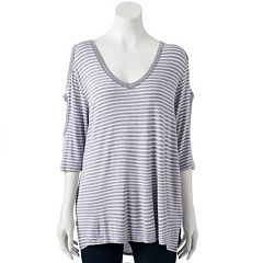 Women's French Laundry Cutout Cold-Shoulder Tee