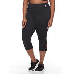 Plus Size FILA SPORT® Crisscross Capri Leggings