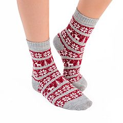 Women's MUK LUKS 3 pkPrinted Crew Socks
