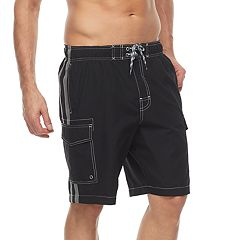 Men's Croft & Barrow® Side-Striped Swim Trunks
