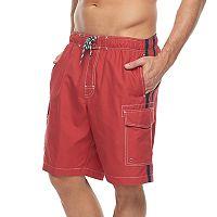 Men's Croft & Barrow® Side-Striped Swim Trunks