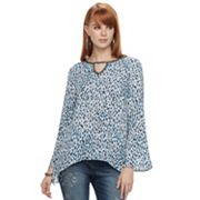 Women's Juicy Couture Cut-Out Bell Sleeve Top