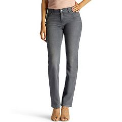 Petite Lee Flex Motion Regular Fit Straight-Leg Jeans
