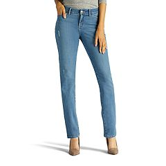 Petite Lee Casual Straight-Leg Jeans